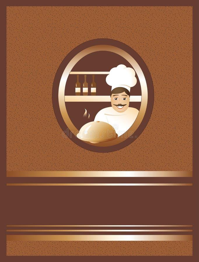 Menü und Koch lizenzfreie abbildung