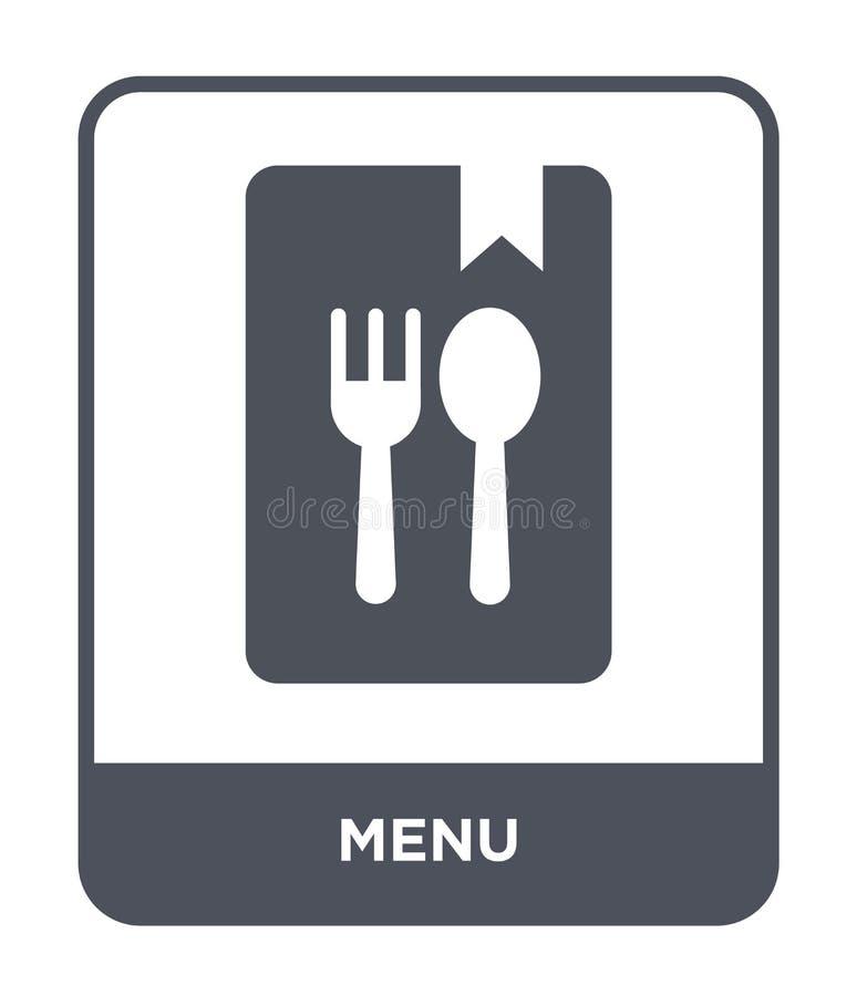 Menüikone in der modischen Entwurfsart Menüikone lokalisiert auf weißem Hintergrund einfaches und modernes flaches Symbol der Men lizenzfreie abbildung