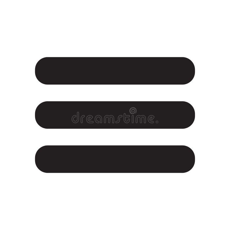 Menüikonenvektorzeichen und -symbol lokalisiert auf weißem Hintergrund, Menülogokonzept stock abbildung
