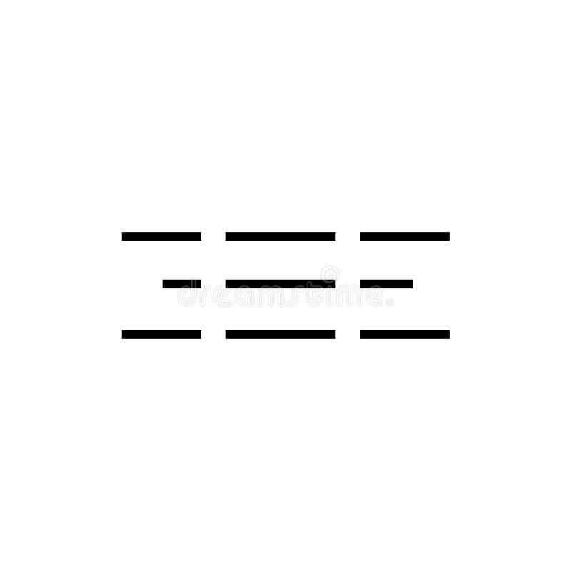Menüikonenvektorzeichen und -symbol lokalisiert auf weißem Hintergrund, Menülogokonzept lizenzfreie abbildung