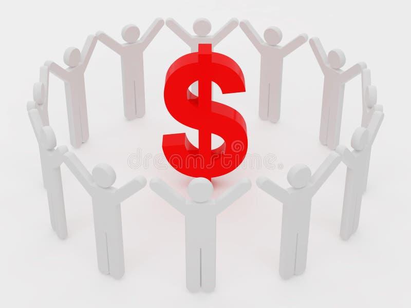 Download Men stock illustration. Image of group, money, icon, three - 14853605