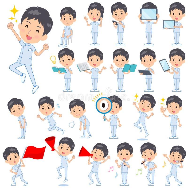 Men_Action de chiroprakteur illustration stock