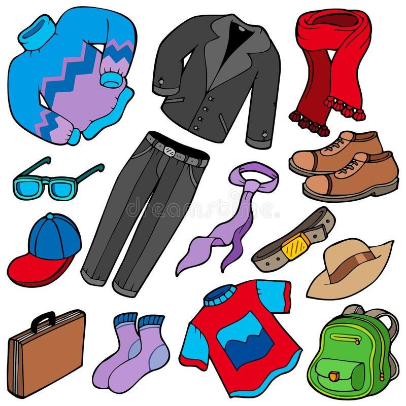 Men apparel collection stock illustration