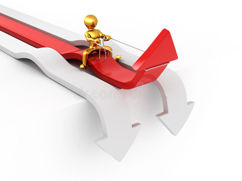 Download Men On Arrow. Conceptual Image Of Success Stock Illustration - Illustration: 16207410