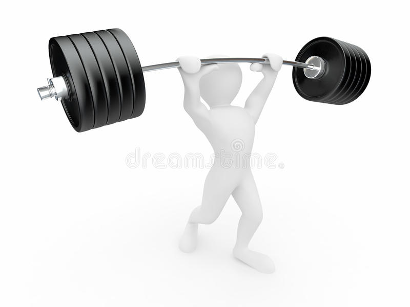 Download Men with barbell. 3d stock illustration. Image of exercise - 18863725