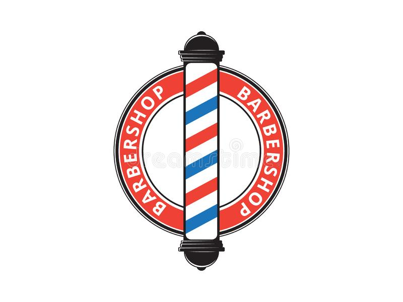 men barbershop hairstylist banner logo badge vector design royalty free illustration