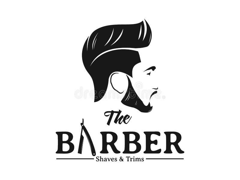 Men Barbershop Hairstylist Banner Logo Badge Vector Design Stock Vector Illustration Of Vector Logo 139643416