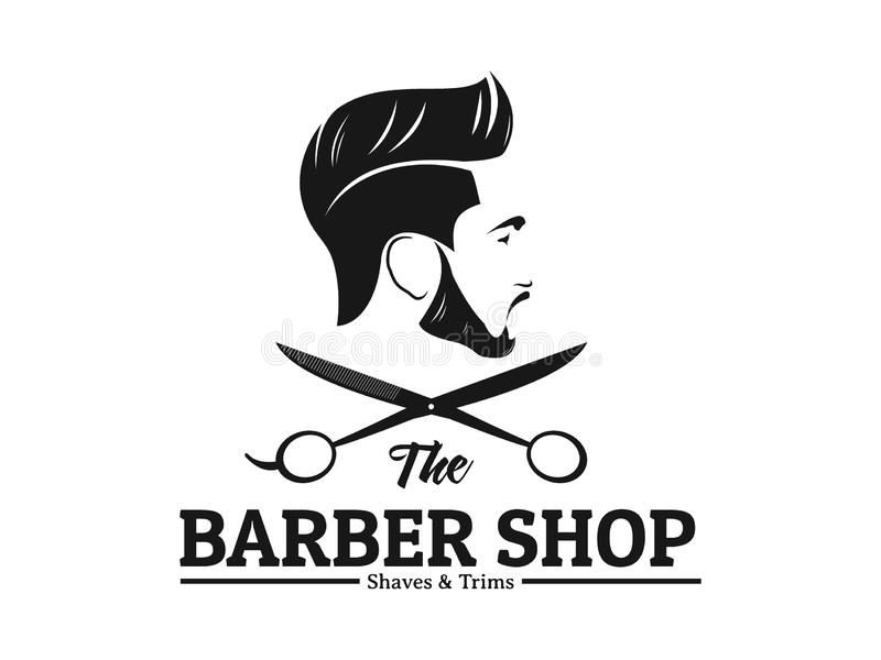 Men Barbershop Hairstylist Banner Logo Badge Vector Design Stock Vector Illustration Of Hairstyle Label 139643468
