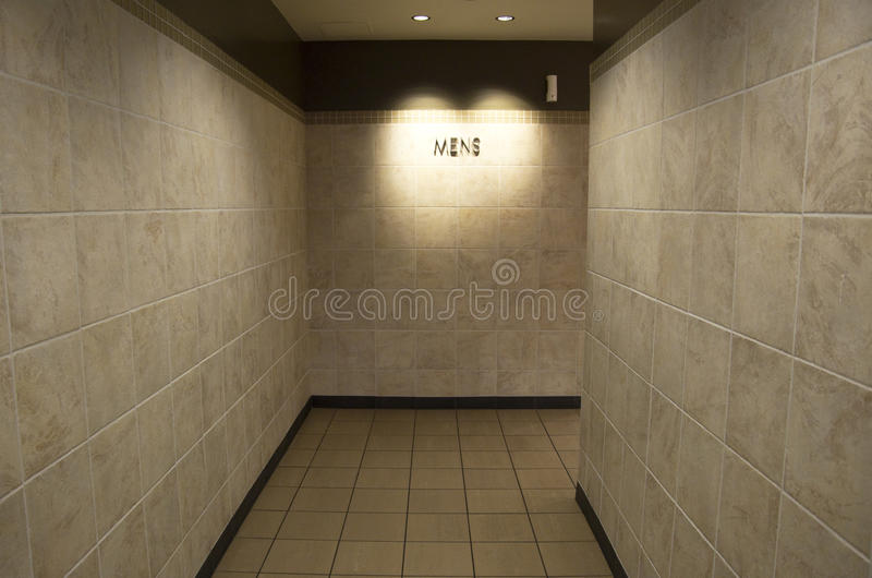 Men bathroom entrance royalty free stock image
