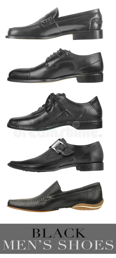 Men black shoes royalty free stock image