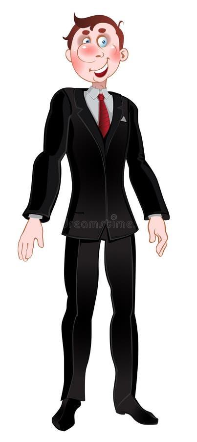 Download Men in black suit stock illustration. Illustration of being - 10675116
