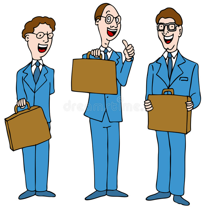 Men in Blue Suits. An image of a legal men wearing blue suits stock illustration