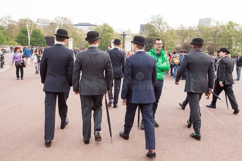 Men in Bowler Hats royalty free stock image
