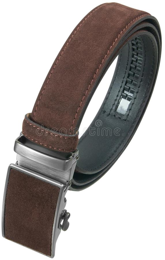 Men brown belt stock image