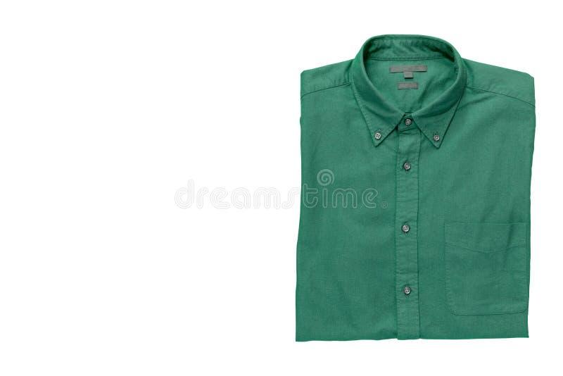 Men& x27; camisa de s isolada com trajeto de grampeamento fotografia de stock royalty free