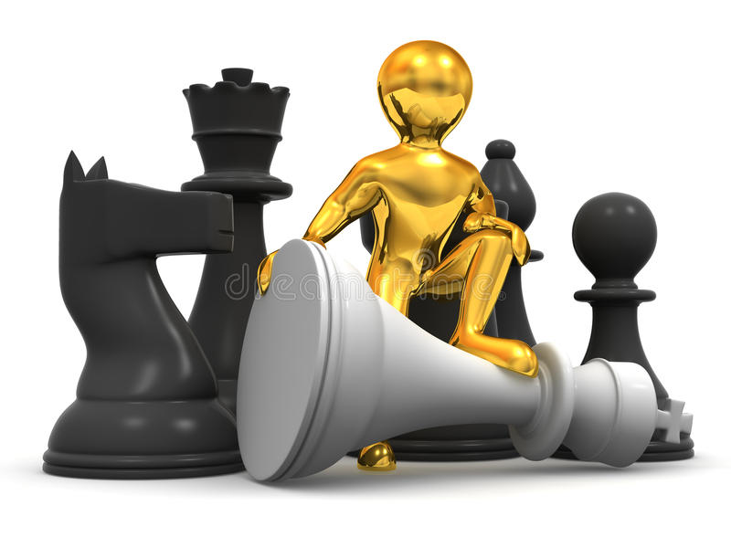 Download Men with chess stock illustration. Image of aggression - 11888804