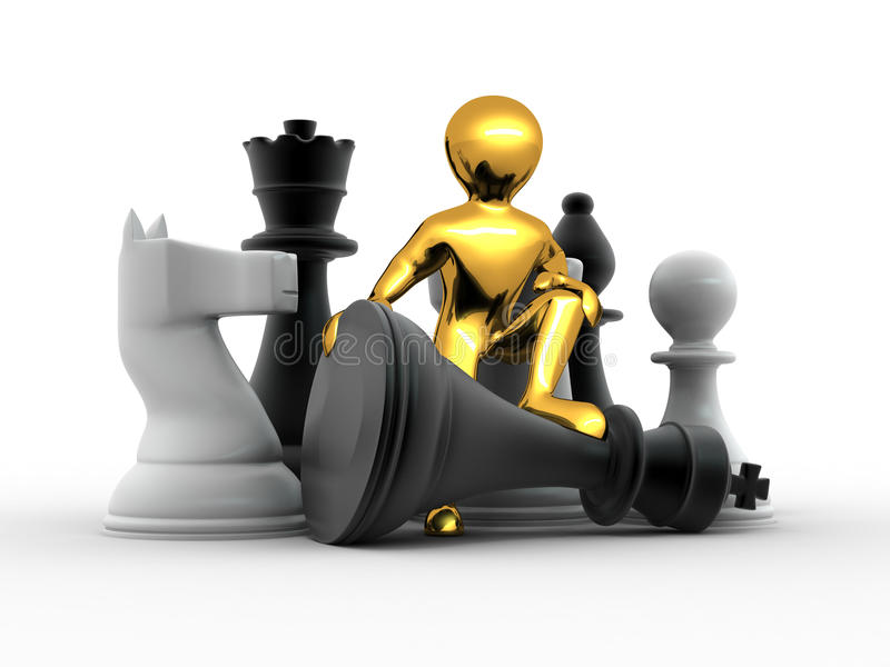 Download Men with chess stock illustration. Image of part, organization - 15276358