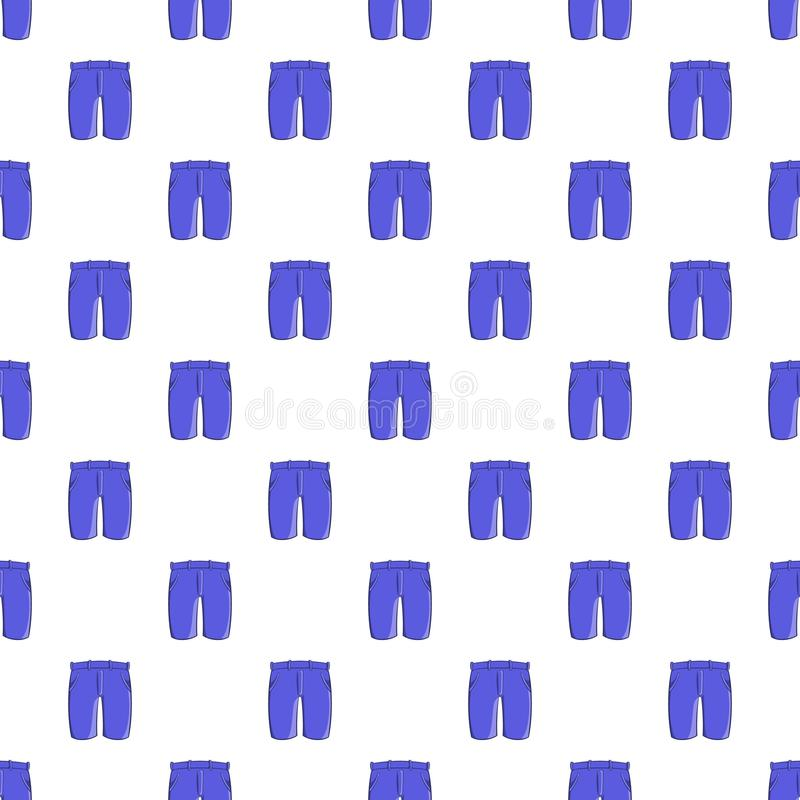 Men classic shorts pattern, cartoon style. Men classic shorts pattern. Cartoon illustration of men classic shorts vector pattern for web vector illustration