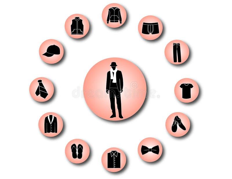 Men Clothes Icons Royalty Free Stock Photos