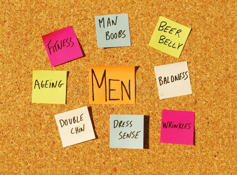 Men concerns royalty free stock photos