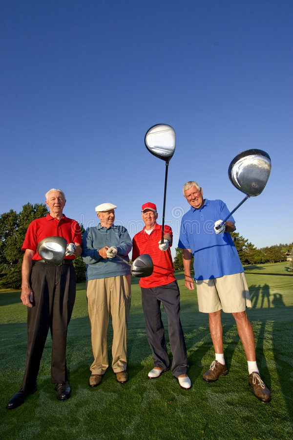 Download Men On Course With Clubs Stock Photography - Image: 6077642