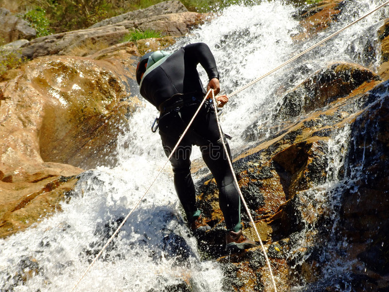 Download Men descending on rappel stock photo. Image of exhausted - 3038474