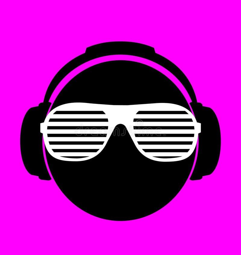Download Men Dj In Headphone. Vector Print Illustration Stock Vector - Image: 37506274