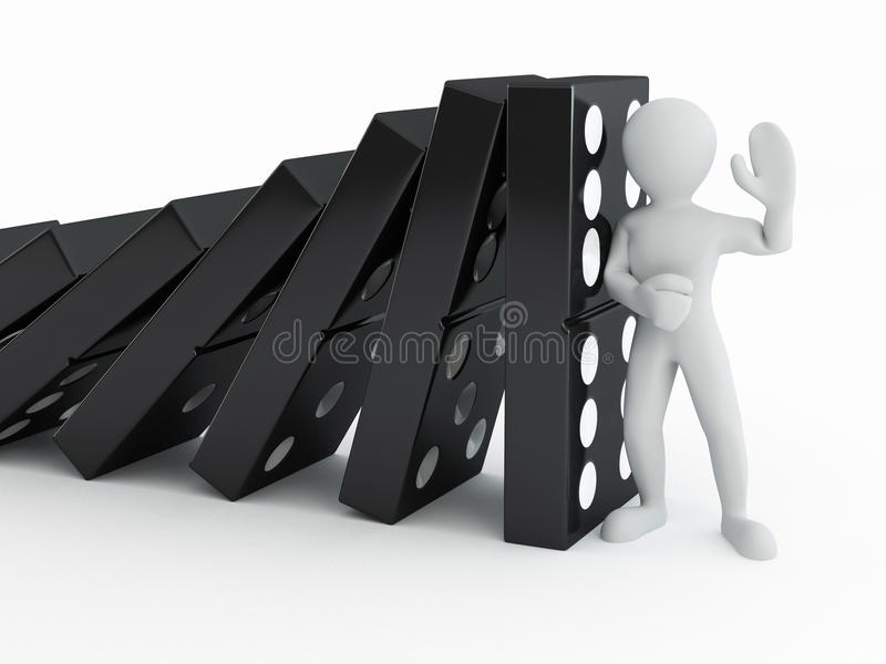 Download Men with domino stock illustration. Illustration of rectangle - 13710917