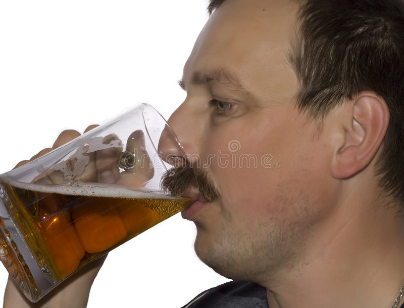 Men drinking beer royalty free stock images