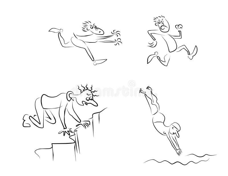 Download Men-emosion_008 stock vector. Image of illustration, jump - 9085970