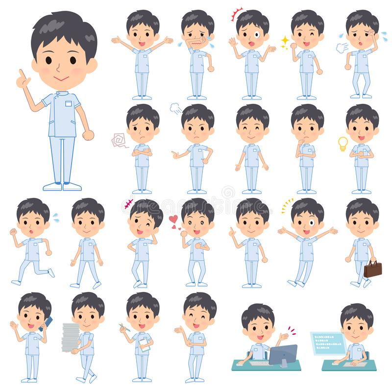 Men_emotion de chiroprakteur illustration stock