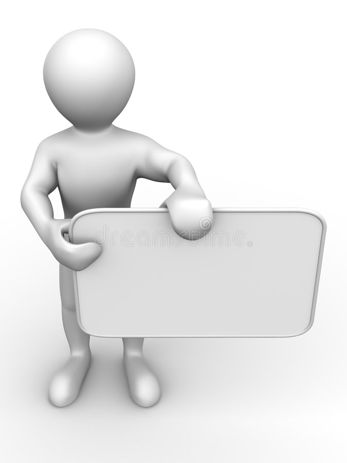 Download Men With Empty Board Stock Photo - Image: 7438910