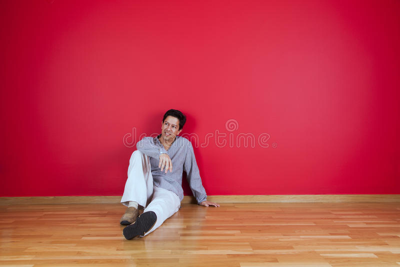 Men enjoying the new house royalty free stock photos
