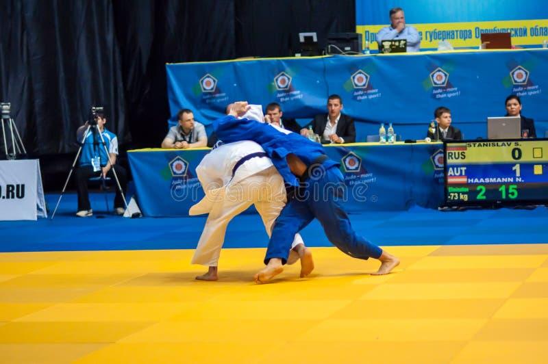 Men Europe Cup tournament Judo royalty free stock photos