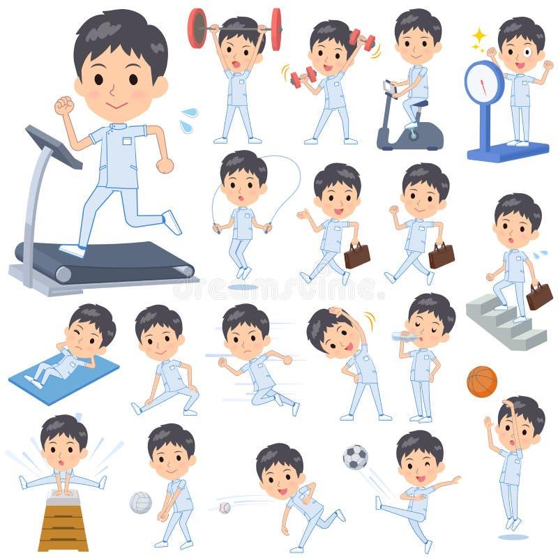 Men_exercise de chiroprakteur illustration stock