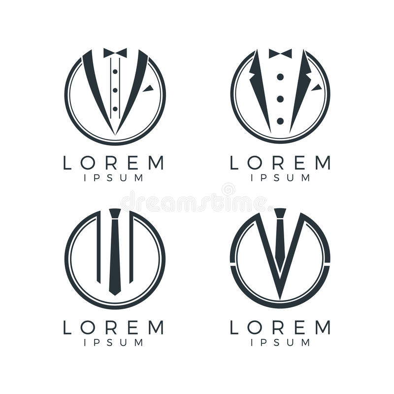 Men Fashion Logo Set vector illustration