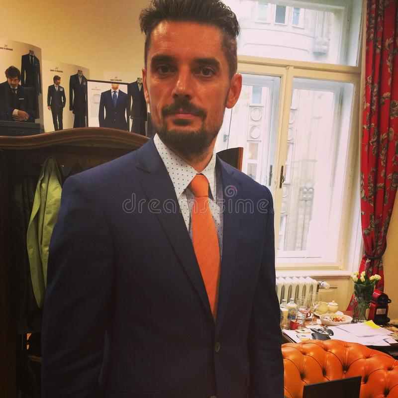 Men fashion. Made to measure style stock images