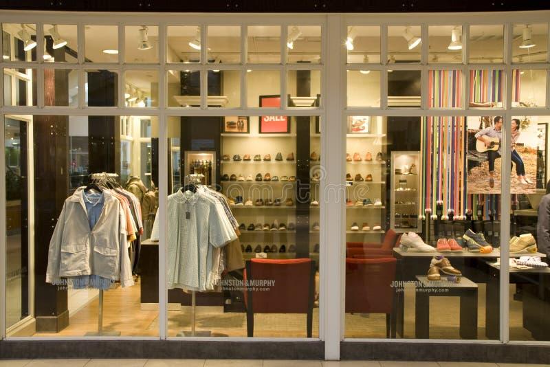 Men fashion store royalty free stock photography