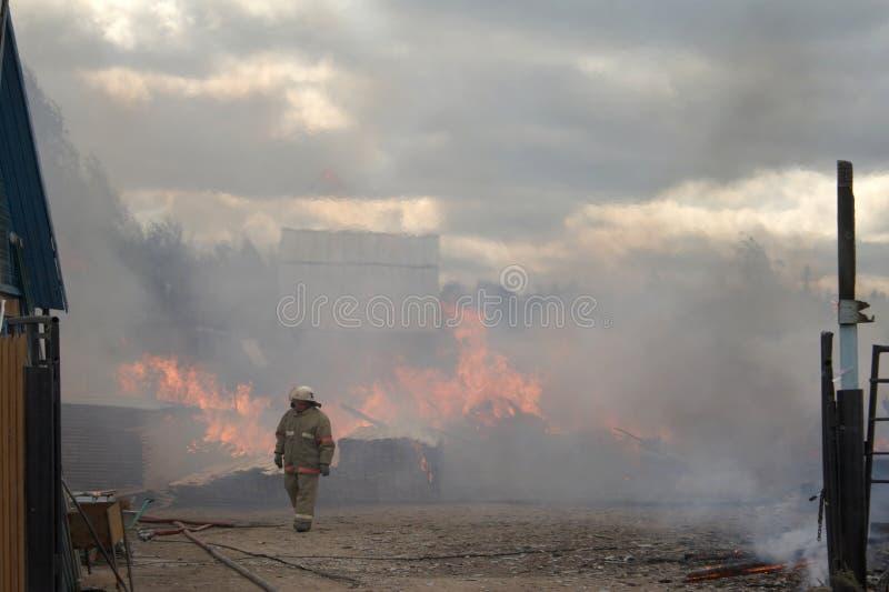 Men and fire stock photos