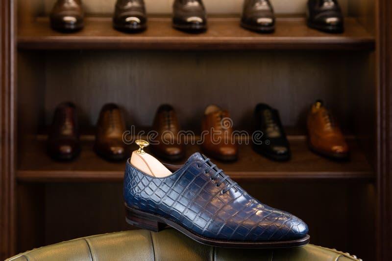 Men footwear boutique store stock image