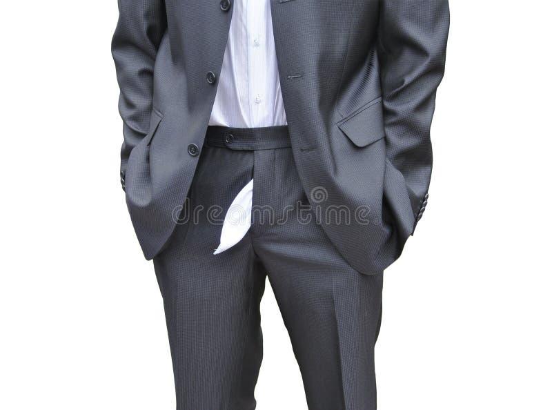 Men forgot to zip up his pants royalty free stock photos