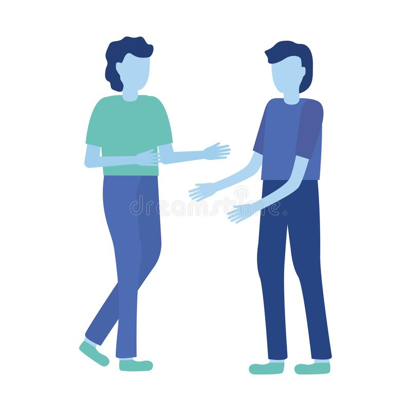 Men gesturing hands stock illustration