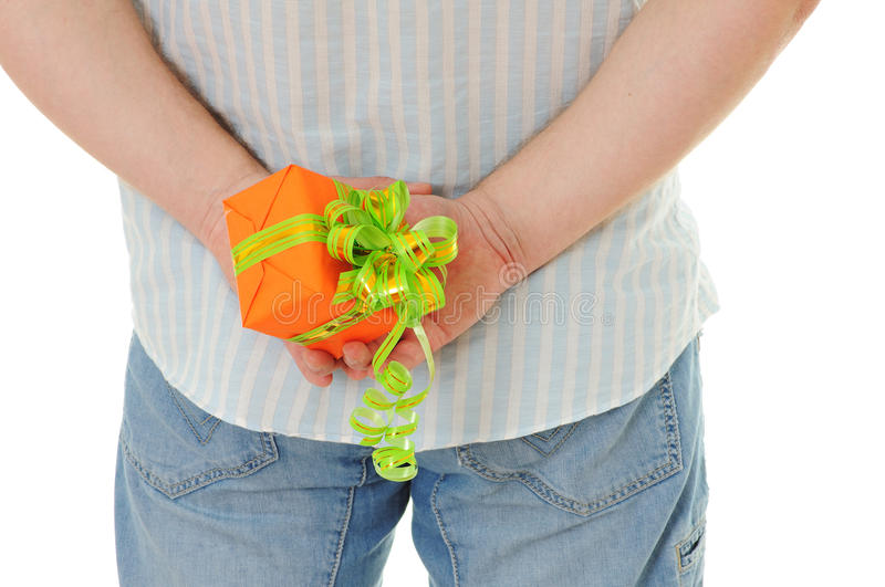 Download Men with gift stock photo. Image of present, caucasian - 14446392