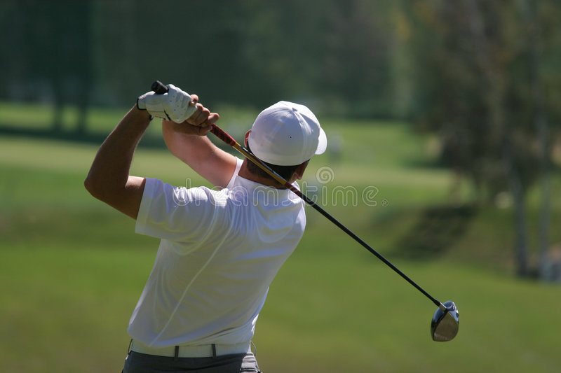 Men golf swing stock photo