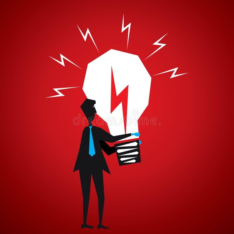 Download Men with big bulb stock vector. Illustration of innovation - 29724803
