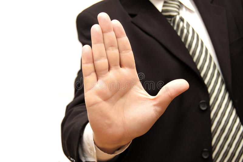 Download Men hand signaling stop stock photo. Image of five, danger - 10105738