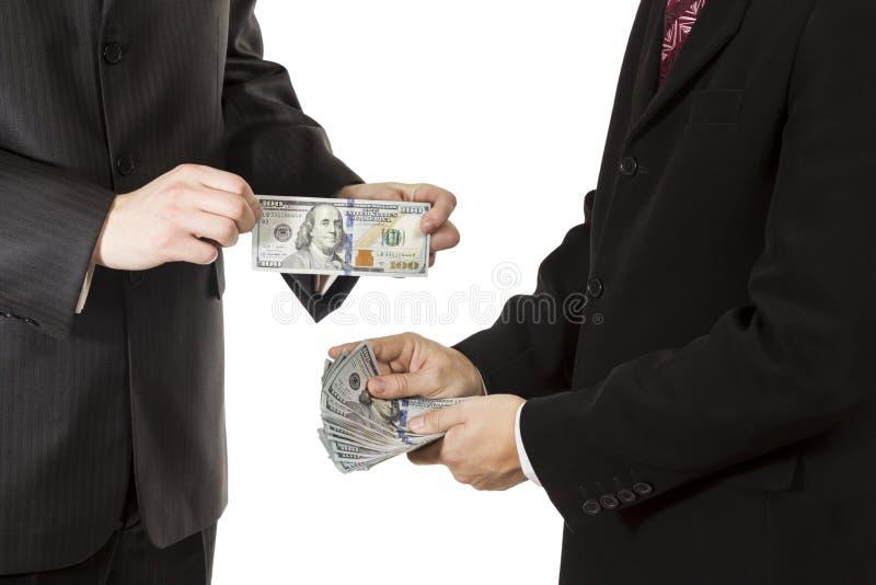Men hands hold dollars royalty free stock photos