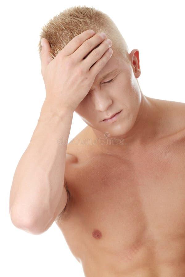 Download Men with headache stock image. Image of body, headache - 12139995