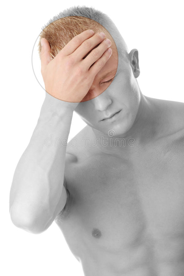 Download Men with headache stock image. Image of headache, muscle - 12995857