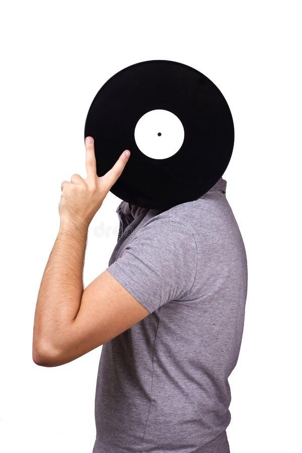 Men holding vinyl stock images